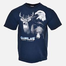 Vintage 1998 Cabelas Michigan Bear Deer Eagle Hunter Wildlife Tee Shirt - L