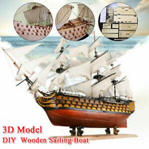 DIY Assembly Ship 3D Wooden Sailing Boat Model Kit Ship Decoration Gift Child