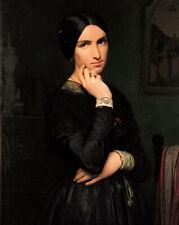 Art oil painting jean hippolyte flandrin - madame hippolyte flandrin noble lady