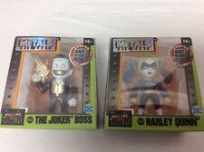 "2 NEW Jada Metals Suicide Squad 2.5"" The Joker Boss M428 & Harley Quinn M429"