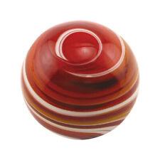 Gear Shift Knob - Glass - Round -Red/White Swirl - Female 5/16-24 Thread