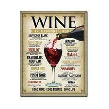 Vintage Wine Tin Sign International Wines Wall Art Home Kitchen Decor New