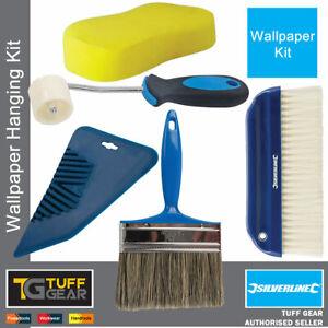 Wallpaper Hanging Seam Roller Wallpaper Smoother Paste Brush Sponge Kit / Set