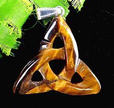 Beautiful unique Tiger Eye Gem Triangle dart pendant bead BA1130