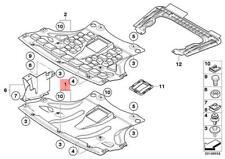 Genuine BMW E83 E83N SUV Engine Splash Shield Undercar Front OEM 51713402370