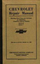 Oem Repair Maintenance Shop Manual Bound Chevrolet Car & Truck Chassis 1925-1926