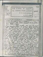 1135072 Watt - Mr & Mrs Watt, 14 Dean Park Road, Edinburgh 1943 Airgraph BG475