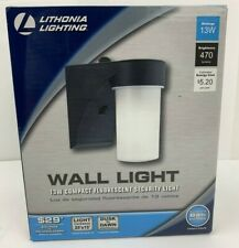 Lithonia Lighting Wall-Mount Outdoor Black Fluorescent Cylinder Light - US STOCK