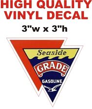 Vintage Style Seaside Grade Gasoline Oil Gas Pump Decal  The Best or 100% Refund