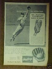 1964 Rawlings Ken Boyer Cardinals MLB Baseball Golves Promo Trade Print Ad