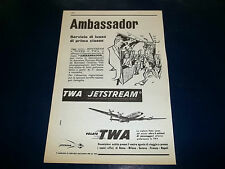 A192-Advertising Pubblicità-1958-TWA JETSTREAM - AMBASSADOR