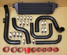 92-95 HONDA CIVIC D15 D16 SI BLACK ALUMINUM BLOT-ON TURBO INTERCOOLER PIPING KIT