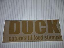 DUCK NATURES LIL FOOD STAMPS VINYL STICKER