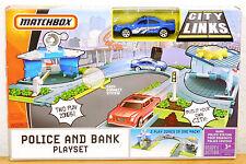2008 Matchbox City Links Police & Bank Roadways Playset Sheriff Car Cruiser NEW