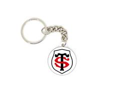 Porte clé badge drapeau stade toulousain Toulouse rugby personnalisé SUPPORTER