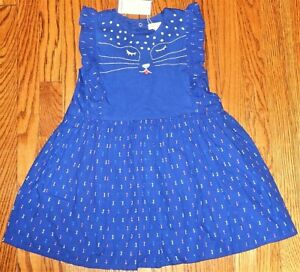 CATIMINI AUTHENTIC TODDLERS GIRLS BRAND NEW ORIGINAL CAT FACE DRESS Size 4T, NWT