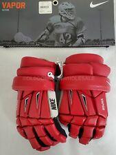 """NEW Nike Red Medium 12"""" Vapor Lacrosse Gloves"""