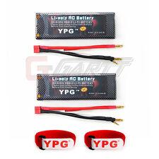 US Ship 2Pcs YPG 7200mAH 2S 7.4V 60C Lipo Battery for RC Hobby Car Truck Model