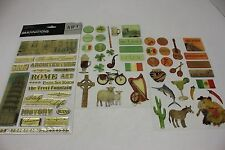 Lot of 3 Vacation Scrapbooking Epoxy Stickers Countries Mexico Ireland Italy