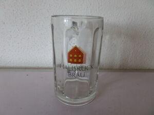 0,3 L  Bierkrug Glaskrug Hausruck Bräu H 13 cm