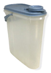 Tupperware Small Juice Container Pitcher Blue Lid 587 Modular Mates Handle