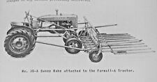 Ih Mccormick Tractor Sweep Rake 10 A 10 B 10 Bn Manual For Farmall A B Bn