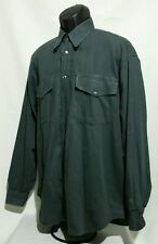 Versace Jeans Couture LS Button Front Shirt Gray Made in Italy Men's Large