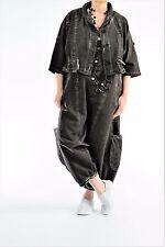 ♦ Kekoo Jeans-Jacke Gr.3-44,46,48,50,52 grau, Cotton/Leinen, Waschung  ♦