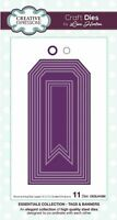Creative Expressions Lisa Horton Die - Stitched Tags & Banners Die - CEDLH1095