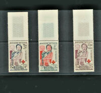Red Cross 1953 Laos Semi Postal-Surcharge for children #B1 - B3 Mint NH Complete