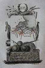 Original antique map SCOTLAND, EDINBURGH, HADDINGTON, BERWICK, Perrot, c.1823