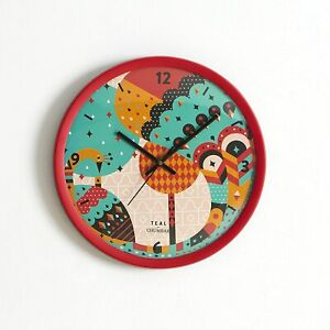 Clock Handmade Vintage Round Peacock Plastic Wall Clock Watch Home unique gift