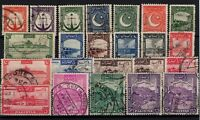 P130354/ PAKISTAN STAMPS / SG # 24 / 43b USED COMPLETE SET CV 205 $