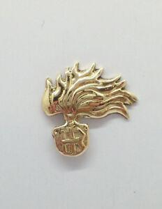 Fiamma Arma dei Carabinieri: Spilla da giacca (pins) in Oro Giallo 750 - 18 Kt