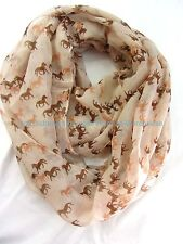 US SELLER , Accessorie equestrian horse equine animal circle loop infinity scarf