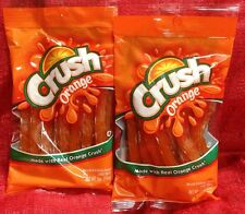 2 Bags Orange Crush Candy Licorice MADE WITH REAL ORANGE CRUSH