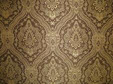Upholstery/Drapery Jacquard Damask Fabric Navaronne 222 Cocoa By The Yard