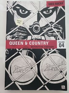 QUEEN & COUNTRY DEFINITIVE EDITION Vol 4 TPB BOOK AUTOGRAPHED by GREG RUCKA! NEW