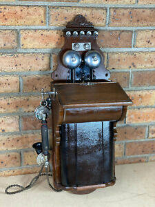 Vintage Ericsson Wall Telephone Commonwealth Phone C1910  - Antique - PMG