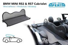 Mini R52 & R57 Décapotable Filet Anti-Remous | Windschott | Windstop | Cabriolet