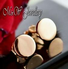 925 Sterling Silver Rose Gold Plated Stud Earrings CIRCLES