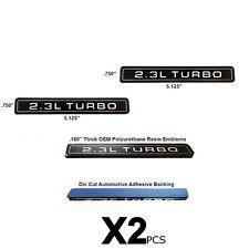 NEW 2.3L Turbo Interceptor Style Emblem Polyurethane Resin Emblems OE 2pc SET