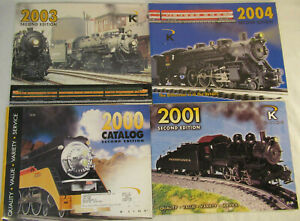 K-Line Second Edition Catalogs for 2000, 2001, 2003 and 2004