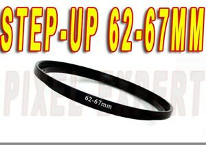 ANELLO ADATTATORE STEP-UP 62-67MM RING ADAPTER OBIETTIVO LENS RING ADAPTER
