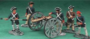 BRITAINS 17285 American Revolutionary  War 6 Pound Gun & Crew