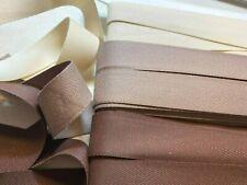 "Twill Tape Cotton 25mm Linen 1"" Herringbone Ribbon Trim 3yds Made in Japan"