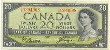 Bank of Canada 1954 $20 Twenty Dollars Devil's Face Portrait C/E Prefix VF