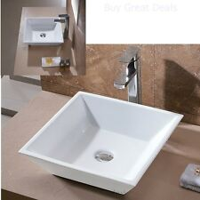Luxury Bathroom Porcelain Vanity Vessel Sink Modern Art Ceramic Bowl Basin White