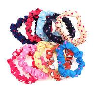 10X Elastic Band Rope Hairband For Women Girls Girl Ponytail Holder Rubber Band