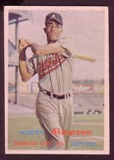 1957 TOPPS HARRY SIMPSON CARD NO:225 NEAR MINT CONDITION